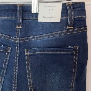 Love, Fire High Rise Skinny Jeans Size 1 NWT